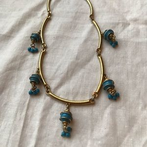 Vintage Gold choker with drop beads